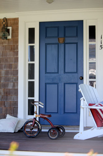 blue door. cape cod, mass.