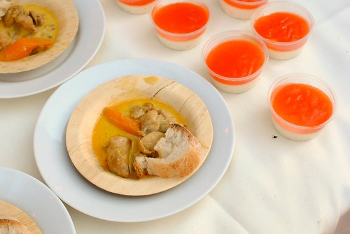 Thi Tran (Starry Kitchen) malaysian chicken curry, lychee panda cotta