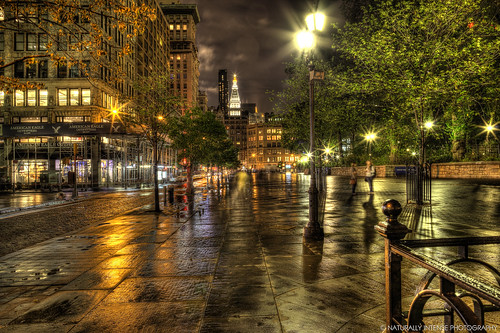Union Square On A Rainy Night by Naturallyintense