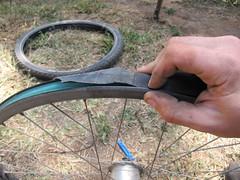 Bike Rim Repair Attempt