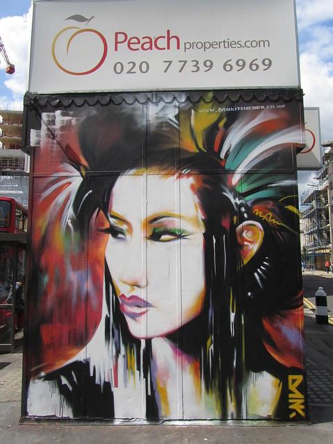 Shoreditch street art by Dan Kitchener