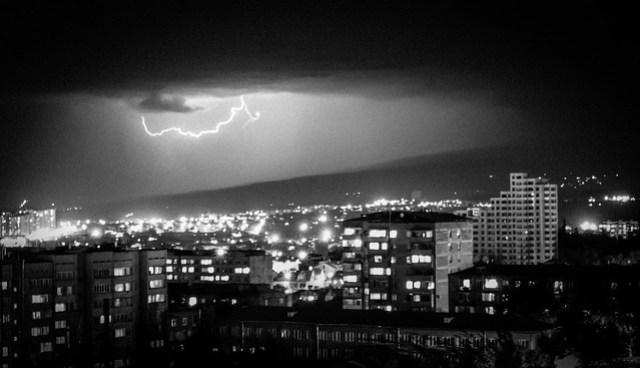 Lightning over Yerevan