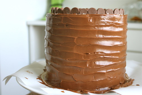 Malt Cake with Chocolate Frosting