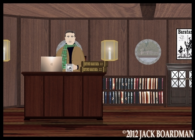 Erik worked to record Derby's tales ©2012 Jack Boardman