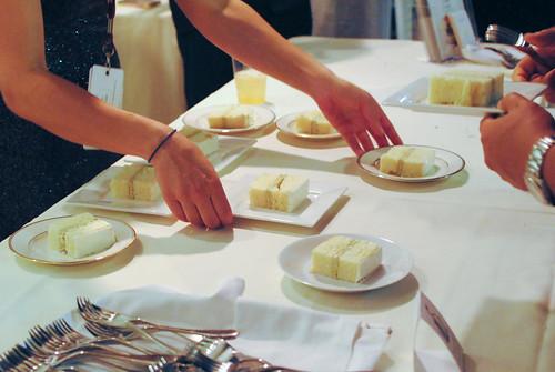 Duff Goldman (Charm City Cakes West) ginger cake, green tea ice cream