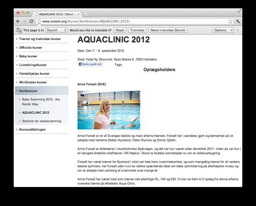 Aquaclinic 2012 á svoem.org