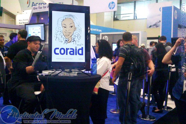 Coraid, vmworld, vmworld 2012, coraid booth, vmworld coraid, coraid vmworld, charater, character drawing, booth idea, booth concept, booth marketing, increase trade show leads