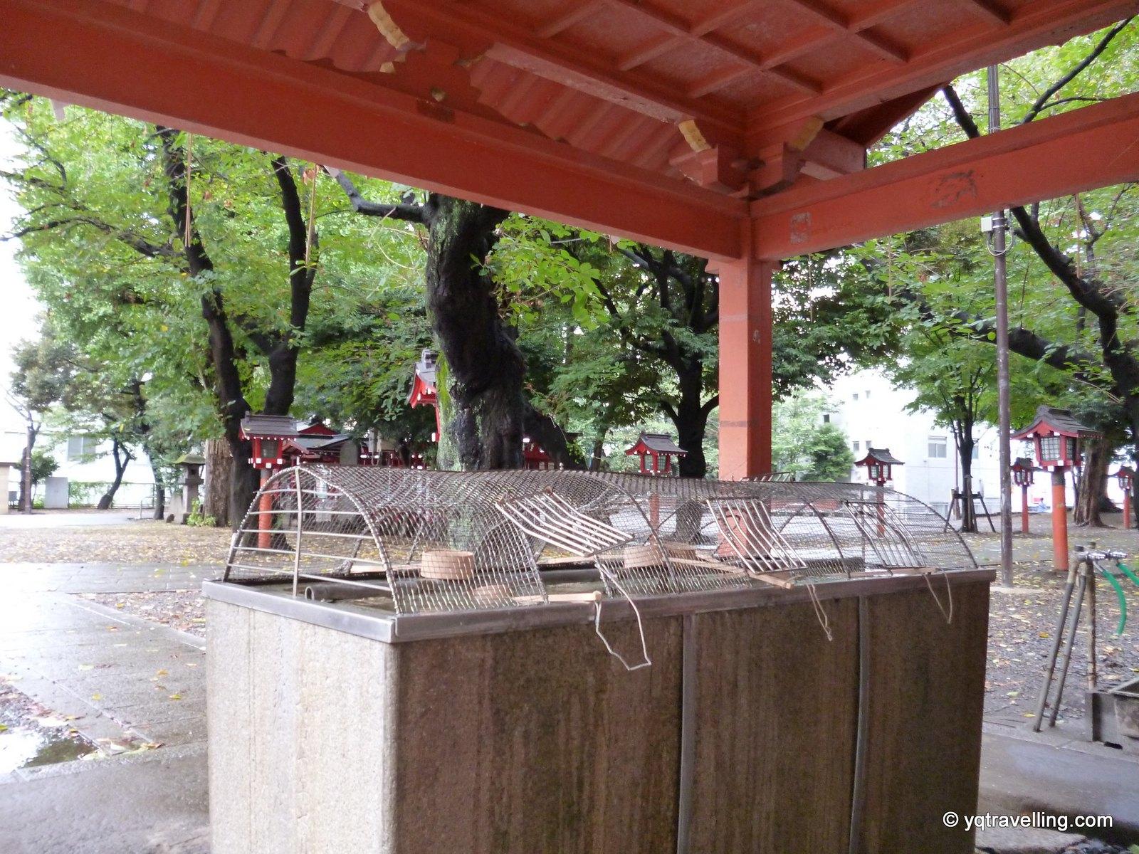 Cleansing water at Hanazono Shrine