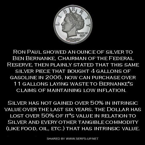 Ron Paul, Bernake & The Silver Coin