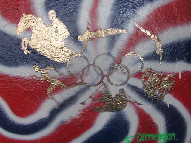 Southbank graffiti - 5th Dimension