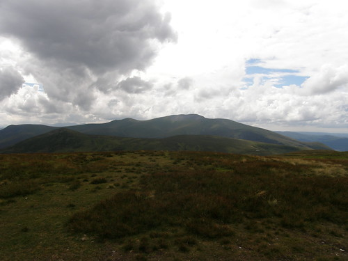 Skiddaw seen over Great and Little Calva