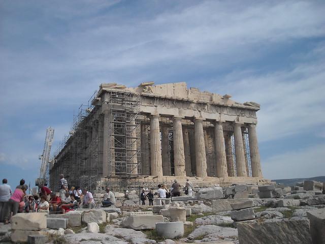 Fachada del Partenón, Grecia
