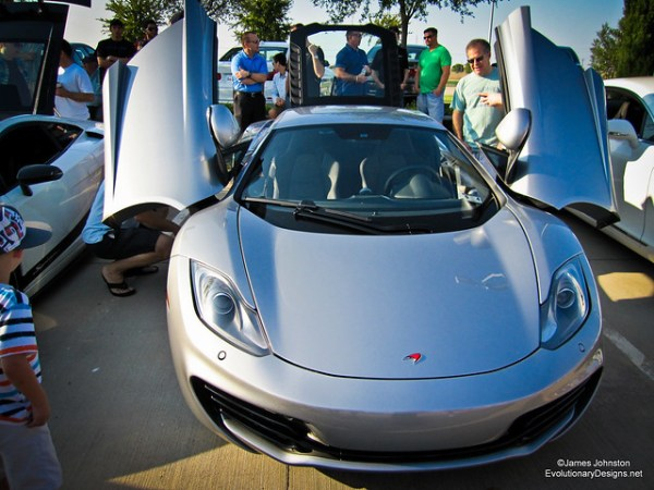 Sliver 12c McLaren -Cars and Coffes Dallas Texas