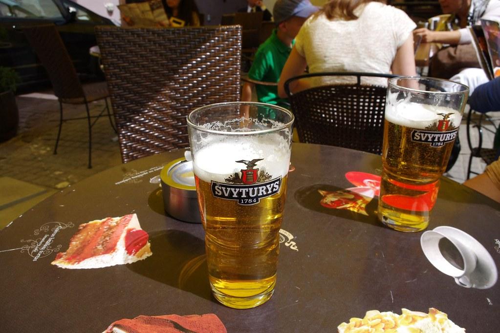 Švyturys beer in Vilnius