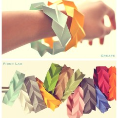 Diagram Origami Bracelet 3 Way Switch Wiring 2 Lights Decorative Hanging Paper Art By Fiber Lab Tessellated Bracelets
