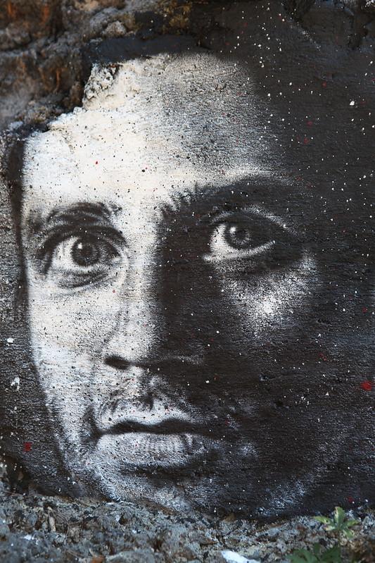 Aurélien Bellanger, painted portrait HD Libre de droits - La Théorie de L'information par thierry Ehrmann Partie II - IMG_0821