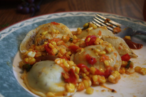 Garden Grub:Tomato-Corn Ravioli