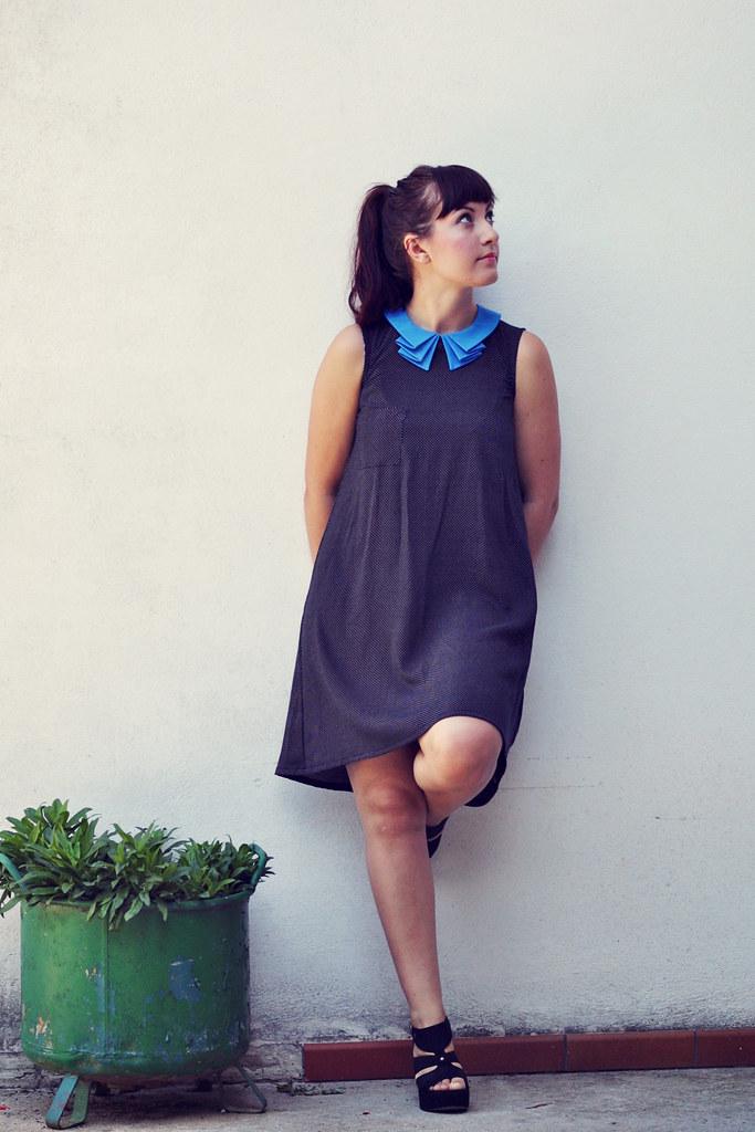 Black and blue Roxanne dress