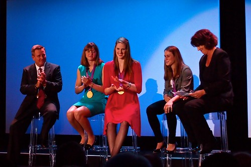 Scott Blackmun, Katie Ledecky, Missy Franklin, Heather O'Reilly, Christine Brennan
