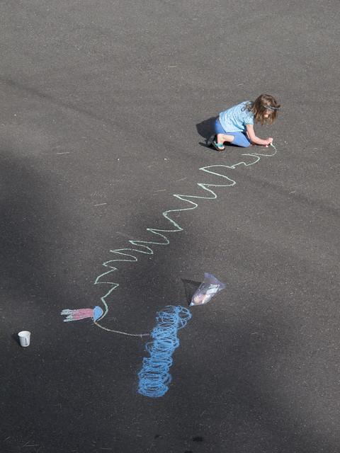 Sidewalk Chalk Outside the Cabin