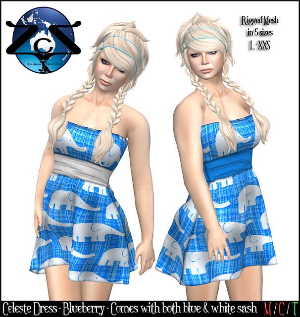 ZcZ Celeste Dress - Blueberry
