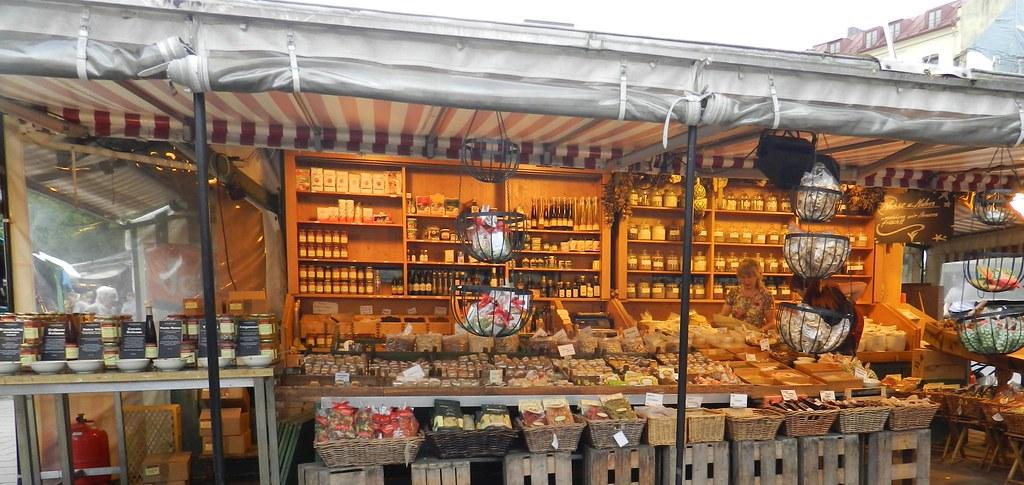 Munich Alemania Viktualienmark Mercado al aire libre 08
