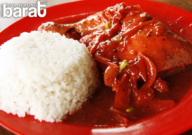food in batad, spicy chicken rice