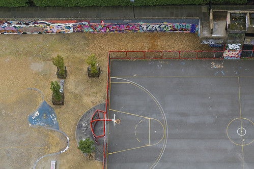 Deserted Basketball Court