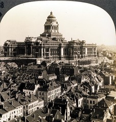 Magnificent Palace of Justice, S.E. from Notre Dame de la Chapelle,Brussels, Belgium - pre 1920