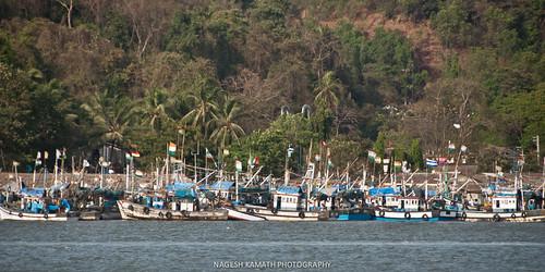 Fishing boats on the Mandovi