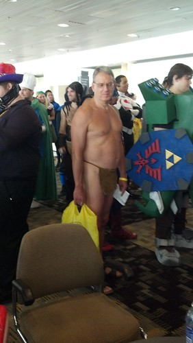 Man Wearing Loincloth at 2012 Baltimore Comic-Con