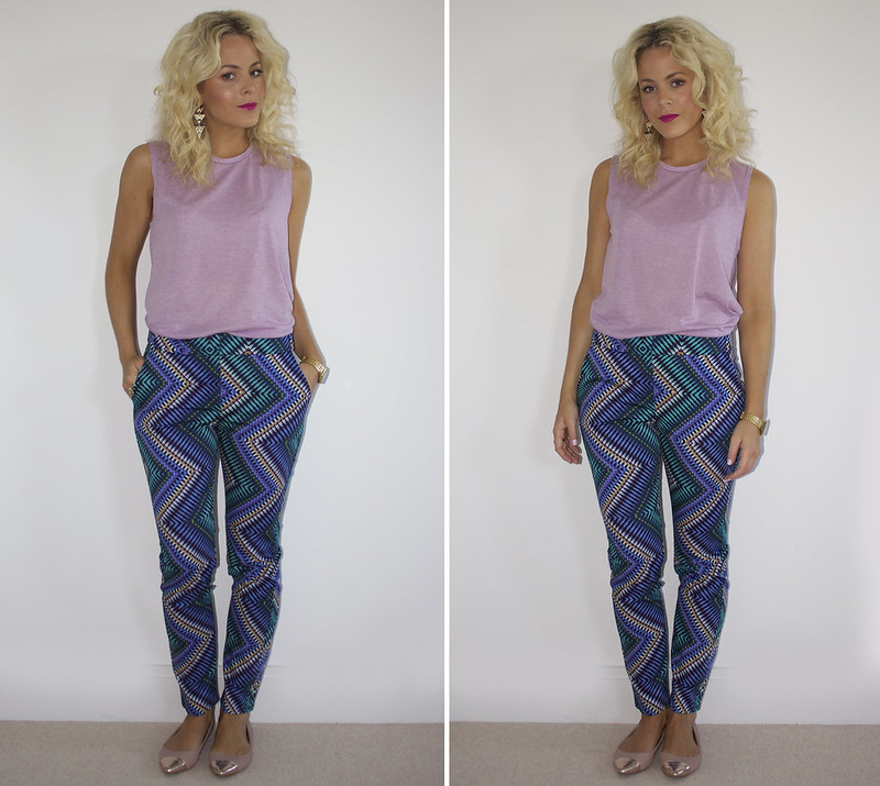 outfit primark patterned trousers