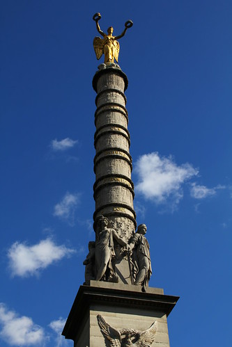 Random tower on fountain
