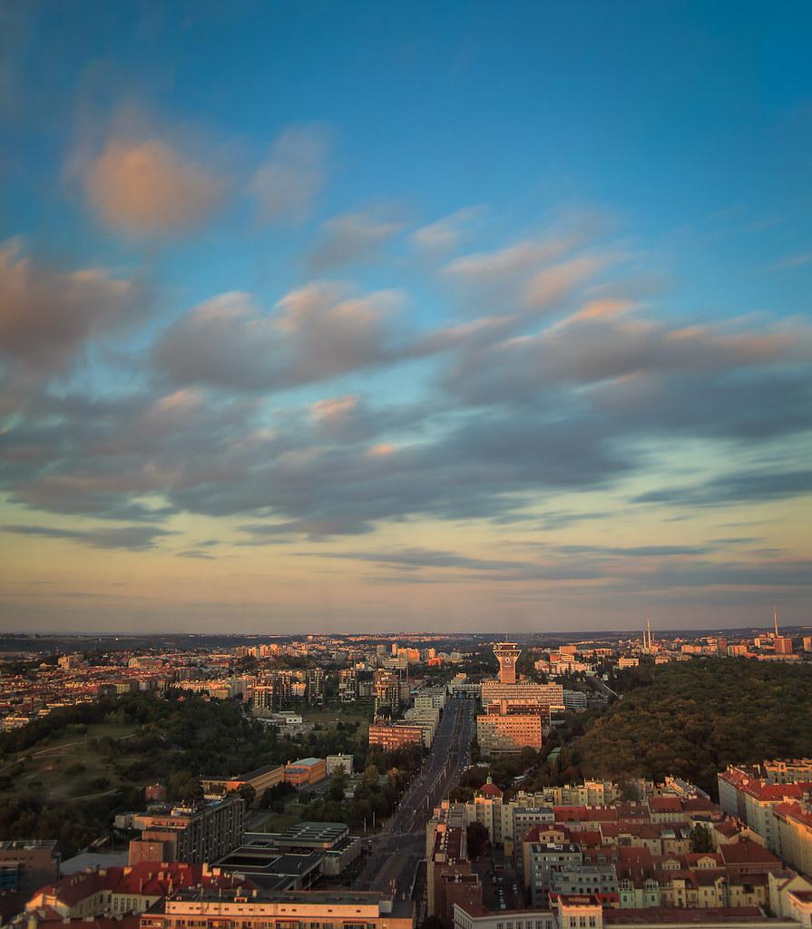 Sunset above Prague
