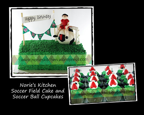Norie's Kitchen - Soccer Field Cake by Norie's Kitchen