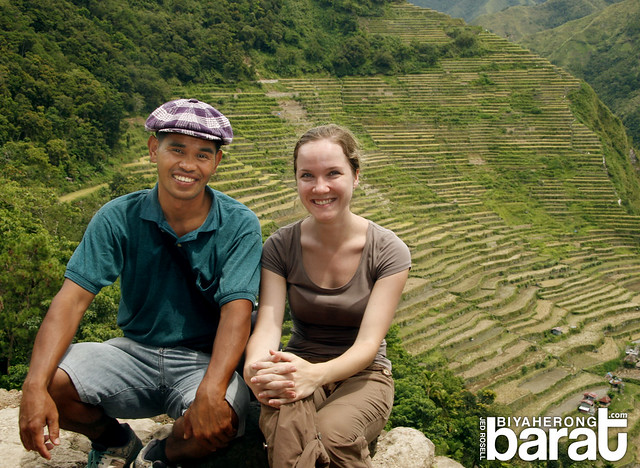 tourist and traveler in batad rice terraces ifugao
