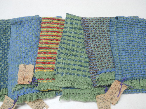 Huck scarves