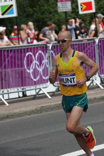 Running in London Olympic Marathon