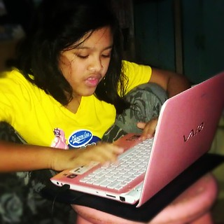 Blogging with daughter