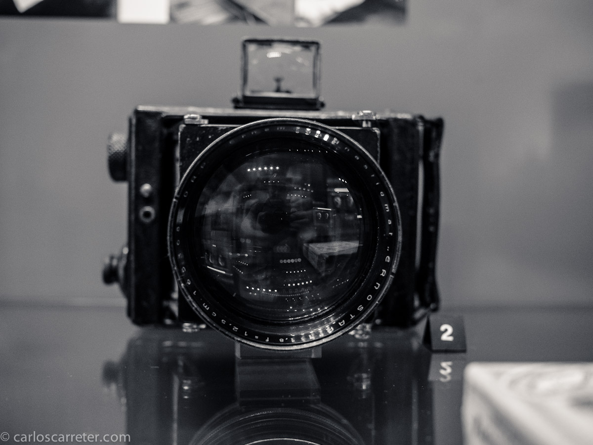 Cámara Ermanox del Museo de los Aparatos Fotográficos de Vevey