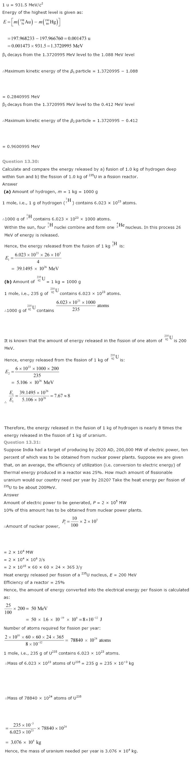 NCERT Solutions for Class 12th Physics PDF Download