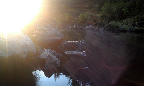 Sunrise on the Rogue River in Oregon.