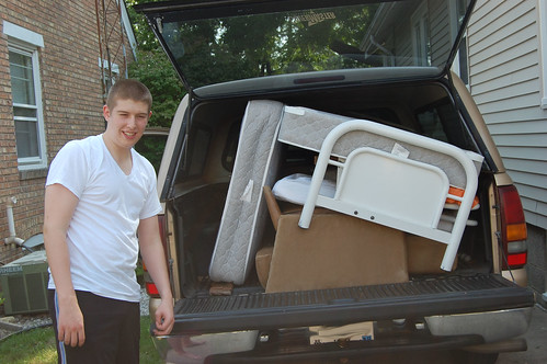Aaron next to loaded truck