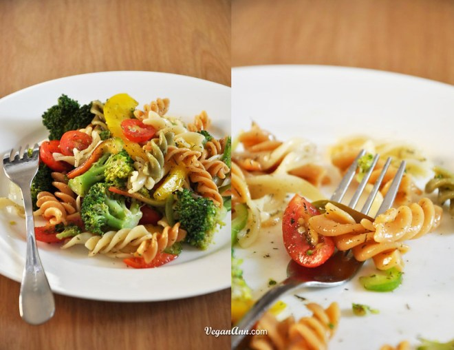 three color pasta broccoli salad mix