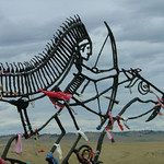 Spirit Warriors sculpture at Little Bighorn