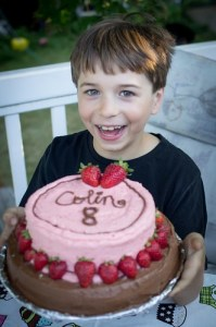 He loved his cake!