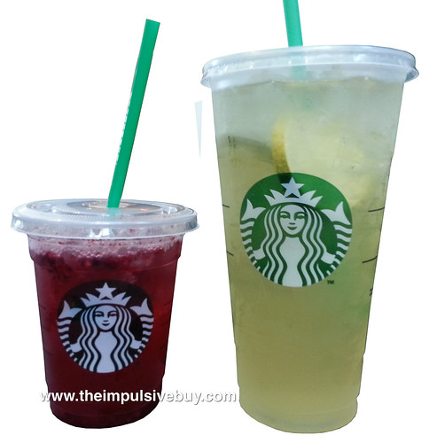 Starbucks Refreshers (Cool Lime and Very Berry Hibiscus)