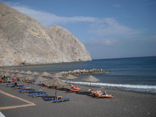 Playa en Santorini