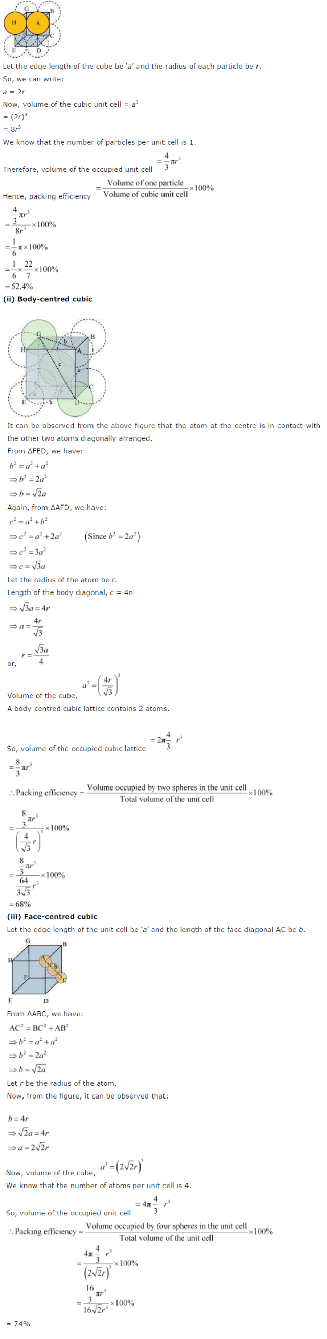 NCERT Solutions for Class 12th Chemistry The Solid State