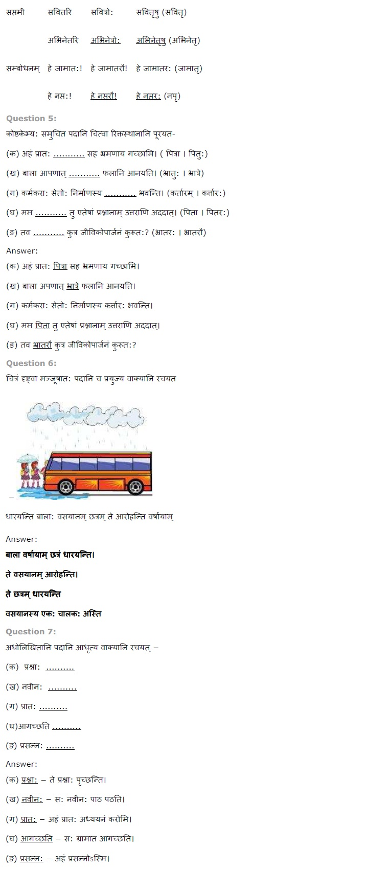 NCERT Solutions for Class 7th Sanskrit Chapter 14 - अनारिकाया जिज्ञासा
